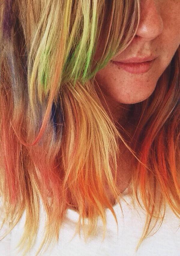 rainbow hair //