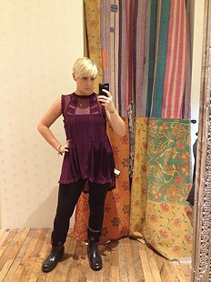 Fiona's Victoria top with floral cut out tube