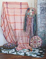 Bohemian decor setup
