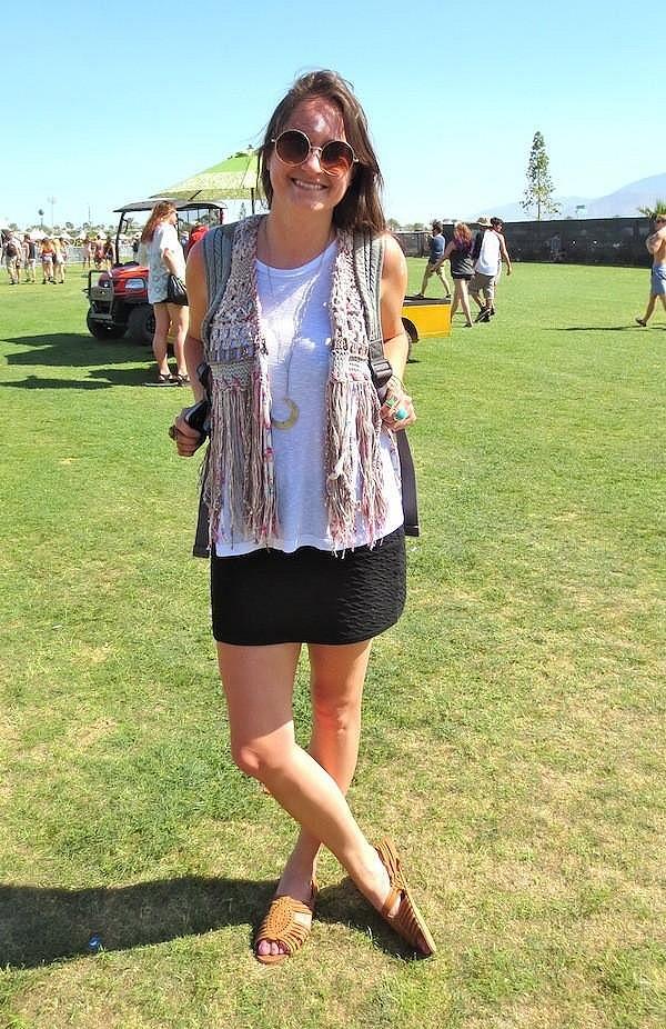 Stitch In Time Vest at Coachella!