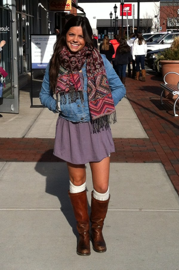 Woven Stitch Scarf style pic