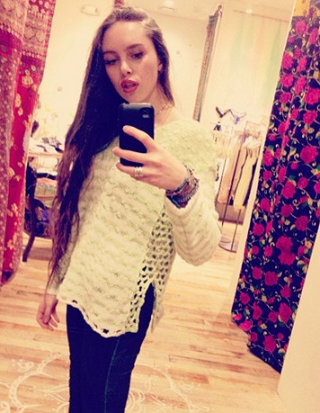 Striped In Crochet Pullover style pic