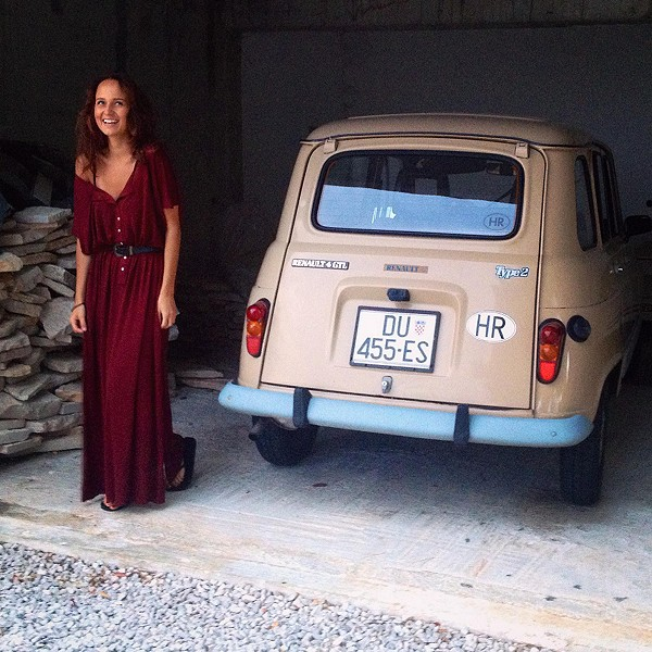 the most comfortable dress and my new sexy ride hah