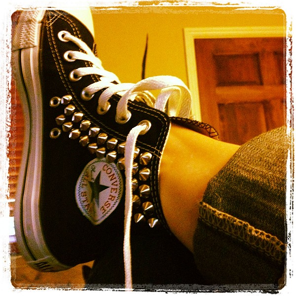 Tommy Studded Chucks style pic