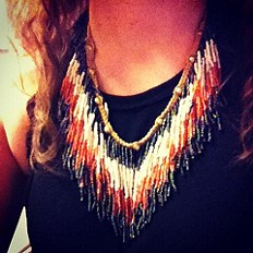 Ombre Fringe Collar style pic