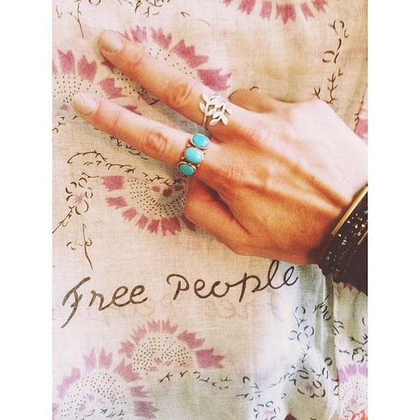 Menna Statement Stone Ring style pic