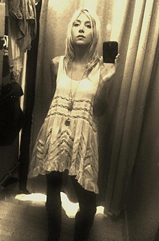 trying it on yrs ago :) Voile and Lace Trapeze Sli