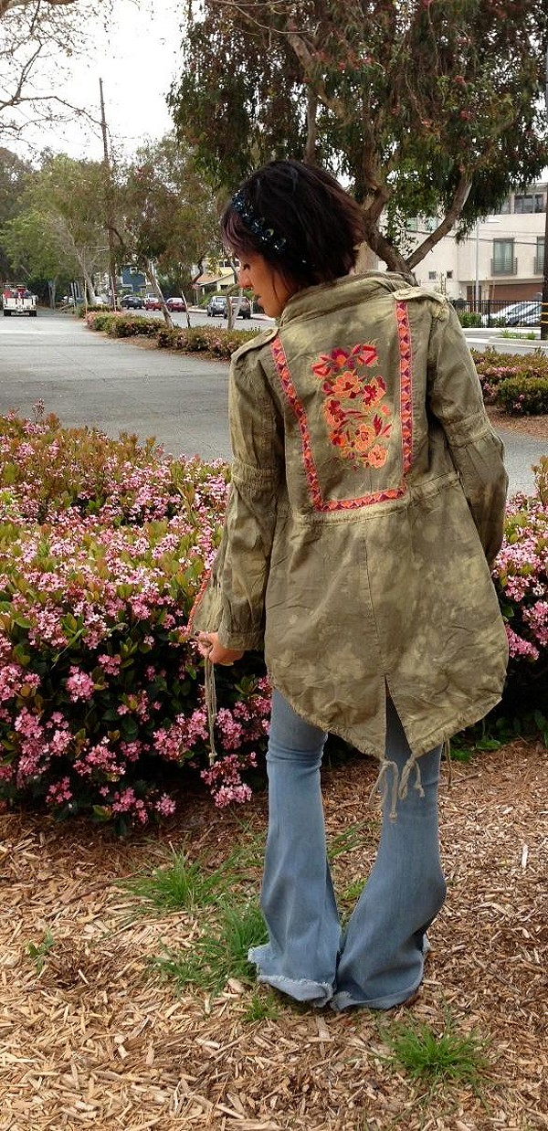 Embroidered Parka.. perfect for spring in Manhatta