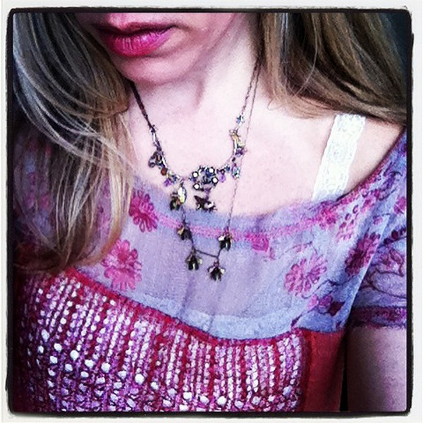 Pieced Floral Print Tunic style pic