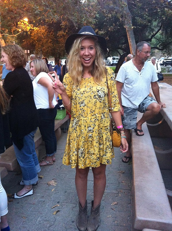 Floral Print Shapeless style pic YELLOW