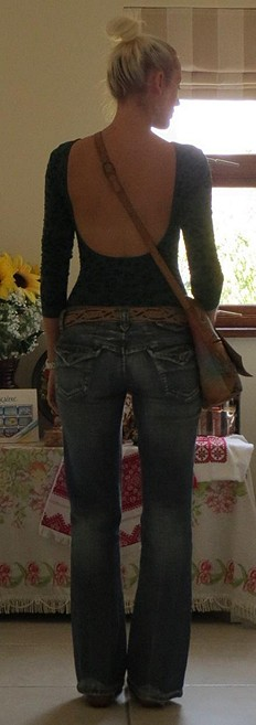 Printed Low Back Cami style pic