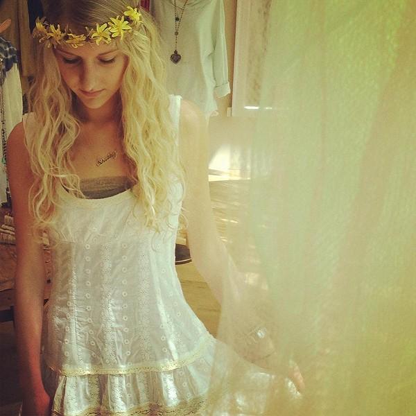 Eyelet Flounce Dress style pic