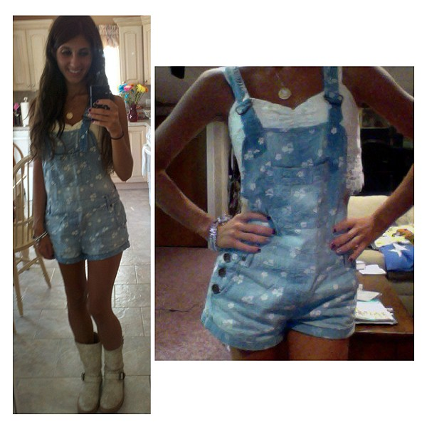 Chambray Floral Overall style pic