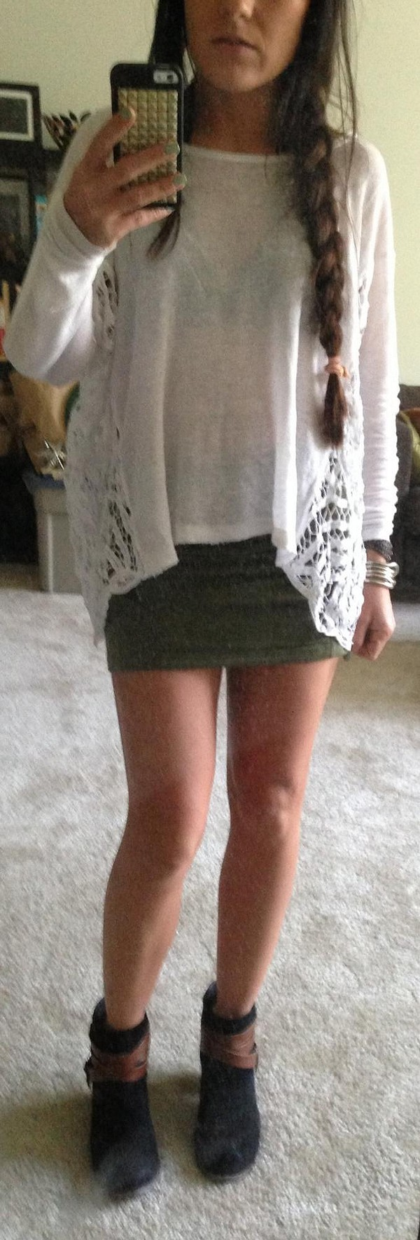 Boxy Pieced Lace Pullover style pic