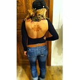 Solid Low Back  with some back Henna! <3