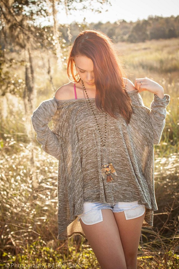 Emma Rose wearing my favorite shirt, modeling my Frida with Wings jewelry, and my Instant Layers chain. gorgeous!