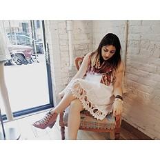 Sleeveless Pintuck Hem Dress style pic