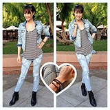 Denim on denim, stripe on stripe <3