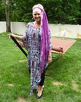 Long Chiffon Poncho Dress style pic