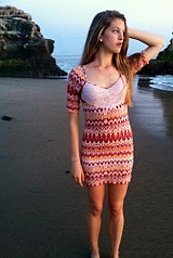Printed Long Sleeve Bodycon style pic