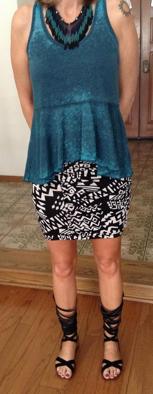 Neo Tribal High Waist Scrunch Skirt style pic