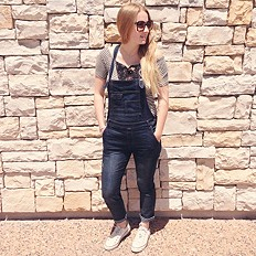 Washed Denim Overall style pic