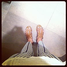 Printed Ankle Skinny style pic