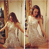 Shimmy Shimmy Party Dress style pic via Instagram: