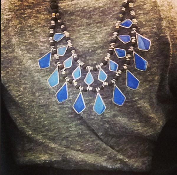 Geo Enamel Necklace style pic