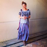Blue Dream Striped Maxi style pic