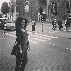 In the streets of Amsterdam