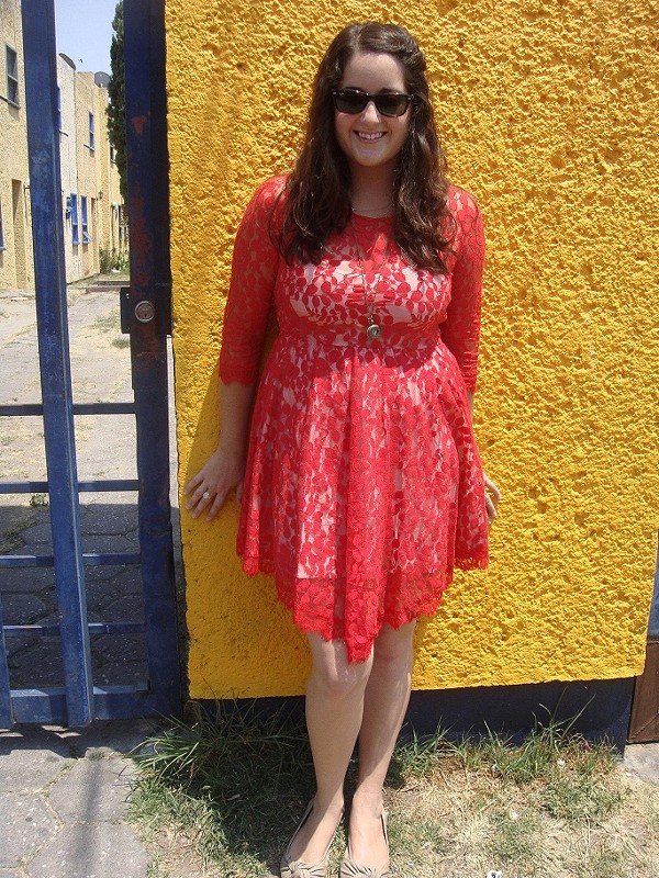 Floral Mesh Lace Dress style pic