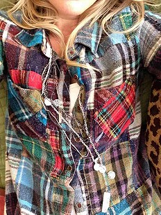 eclectic plaid & silver