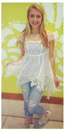 On A Whim Lace Top style pic