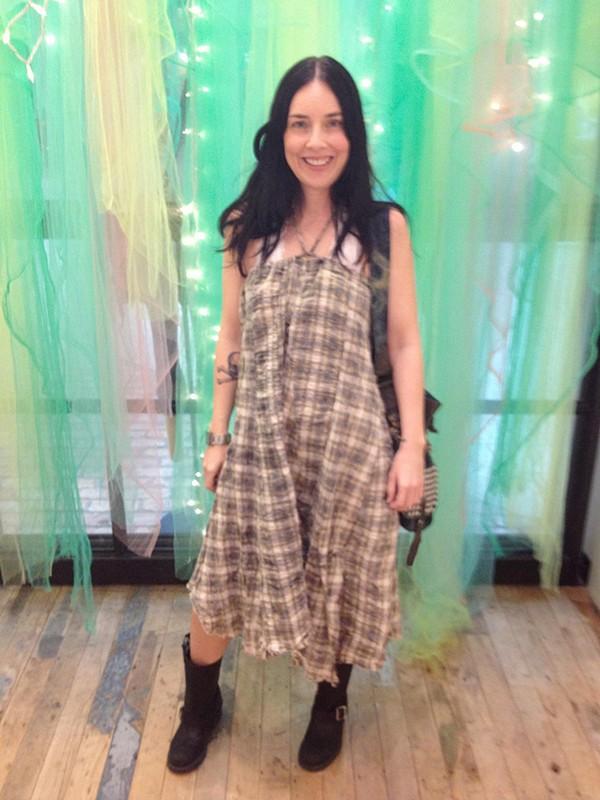 Janus Plaid Maxi Skirt style pic
