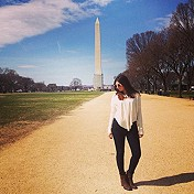Billie Jean Thermal and the Washington Monument!