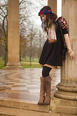 Garden Sleeve Embroidered Dress style pic
