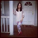 Beaded Wavelengths Tunic & Floral Pants