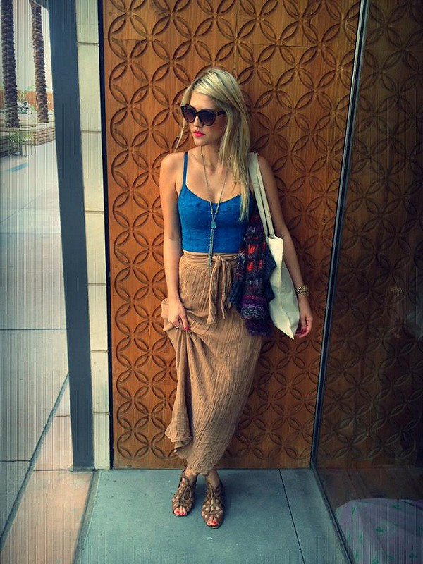 Spinner Maxi Skirt style pic