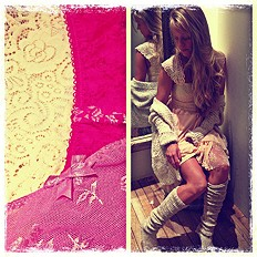 Pieced Lace Tunic: Style Pic