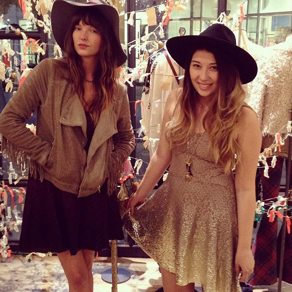 Floppy hats and ombr� holiday dresses