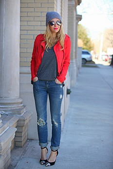 Lovely In Linen Motorcycle Jacket style pic