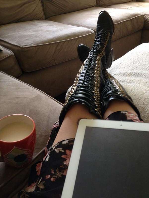 fall over the knee boot