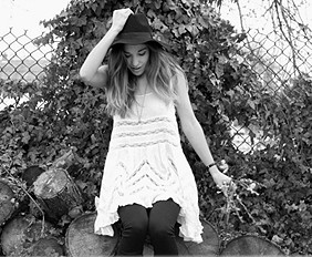 Voile and Lace Trapeze Slip style pic B&W