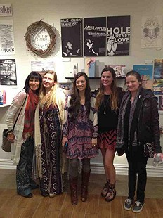 The Shrewsbury team at Britt's Senior art show!