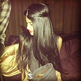 Wearing the Irina Headpiece out in Hollywood <3
