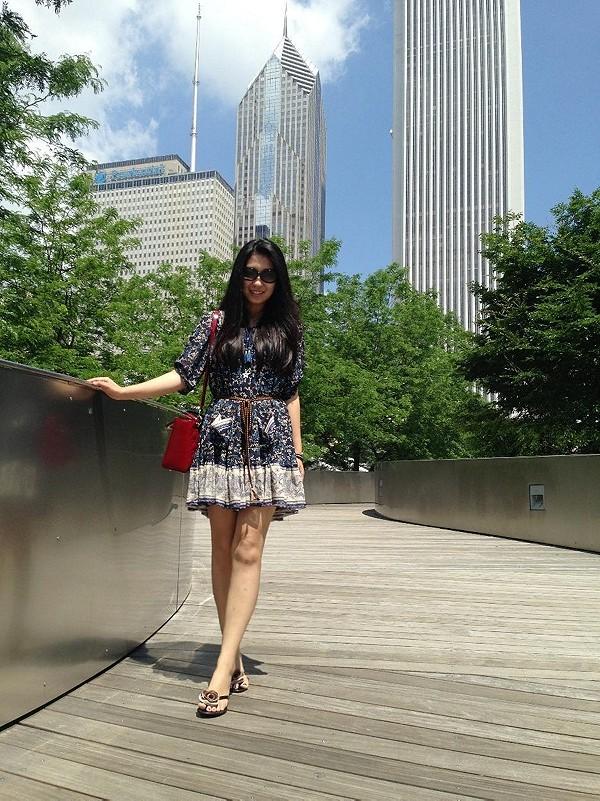 Penny Lane Chiffon Dress style pic