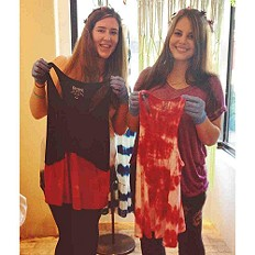 Tie Dying at Free People Santa Barbara!