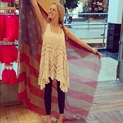 Voile and Lace Trapeze Slip store style from 801!