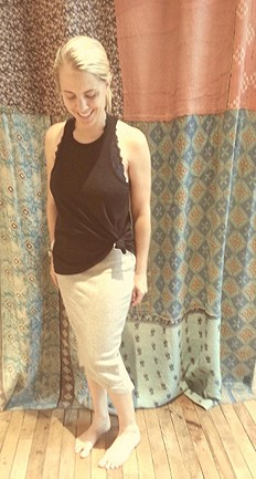 Overlapped Pencil Skirt style pic